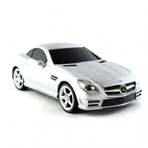 Remote control mercedes benz slk 350 1 24 in silver for Remote control mercedes benz
