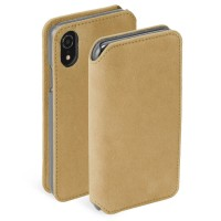 Krusell Brody 4 Card SlimWallet Case For iPhoneXR In Cognac