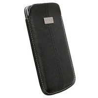 Krusell Luna Leather Mobile Pouch 4XL In Black - 95343-5