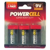 "PowerCell Super Heavy Duty 9v ""Square"" Battery"