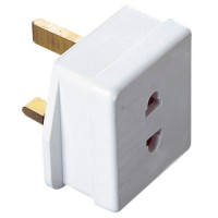 European plug converter 2 pin to 3 pin UK
