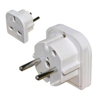 Travel adaptor UK- Euro including belgium and france (3 - 2 pin)