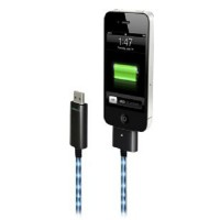 Dexim visible green (blue) USB cable sync/charge for iPhone/iPod