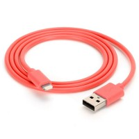 Griffin MFI Lightning USB data cable in red 1M
