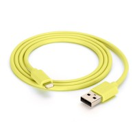 Griffin MFI Lightning USB data cable in yellow 1M