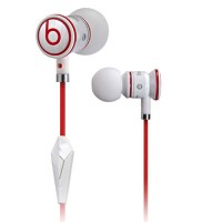 Monster Beats By Dr. Dre iBeats in-ear headphones - white/red