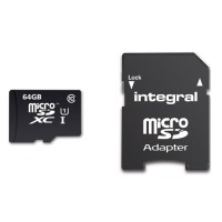 Integral micro SDHC/XC 90mb 64GB class 10 memory card with SD adaptor