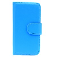 Pama wallet hard frame case to fit iPhone5C In blue