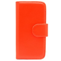 Pama wallet hard frame case to fit iPhone5C in red