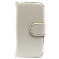 Pama wallet hard frame case to fit iPhone5C In white - IPH5CWHFCW