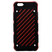 Pama Armour Striped Case for iPhone6 in Red