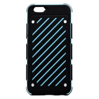 Pama Armour striped case for iPhone6 in blue