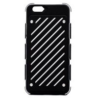 Pama Armour striped case for iPhone6 in white