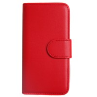 Pama hard frame wallet case for iPhone6 in red