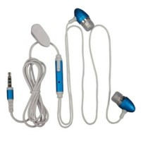 Pama iPhone stereo earphones with mic and remote - blue