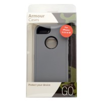 Pama Armour case for iPhone SE in grey/black with stand