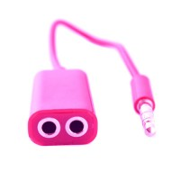 Pama 3.5mm  splitter for headsets - pink