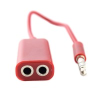 Pama 3.5mm Splitter for Headsets in Red