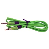 Pama 3.5mm to 3.5mm Stereo Jack Plug Lead in Green - 60cm Cable