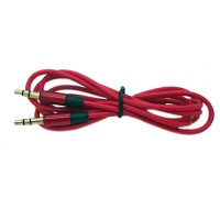 Pama 3.5mm to 3.5mm stereo jack plug lead red - 120 cm