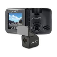 Mio C380 Dual Dash Cam, Full HD GPS & Speed Cam Alerts Upto 20hrs Recording