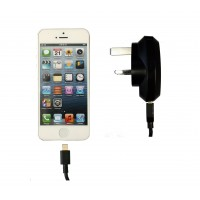 Pama mains travel charger to suit iPhone5 - MFi approved 2.1A