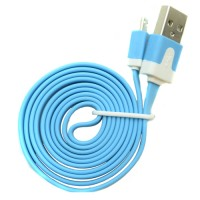 Pama tangle free flat micro USB data cable 1M - blue