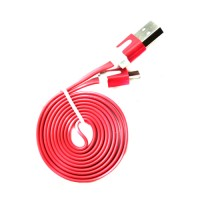 Pama tangle free flat micro USB data cable 1m - red