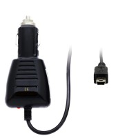 Pama 12/24v in car charger with 2m straight lead and mini USB plug