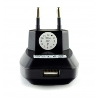 Pama euro mains travel charger with USB socket 1Amp