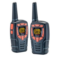 Cobra AM845 walkie talkie radio twin pack with batteries and desktop charger