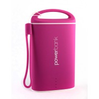 Pama Plug N Go Power 4 V3 - Portable Power Bank in Pink 2.1A 9000mAh