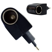 Pama 12 Volt Mains Euro Adaptor With Cigarette Socket