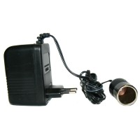 Pama 12 volt mains adaptor with cig plg - 2 pin euro plug