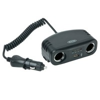 Ring car accessory socket twin 12v multisocket with USB - RMS7