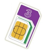 3 mobile pay as you go trio sim ( Full, Micro,Nano ) retail pack