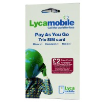 Lyca mobile pay as you go trio tim ( Full, Micro,Nano ) retail pack