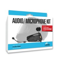 Cardo Rider audio/ microphone kit with hybrid & corded booms for Freecom