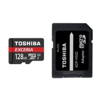 Toshiba Micro SDHC/XC 90mb 128GB class 10 memory Card with SD adaptor