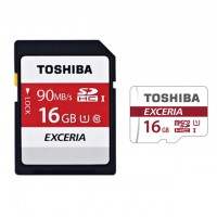 Toshiba Micro SDHC/XC 90mb 16GB class 10 memory Card with SD adaptor