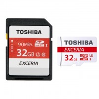 Toshiba Micro SDHC/XC 90mb 32GB class 10 memory Card with SD adaptor