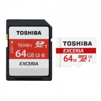 Toshiba Micro SDHC/XC 90mb 64GB class 10 memory Card with SD adaptor