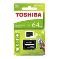 Toshiba Micro SDXC 100MB/s 64GB class 10 Memory Card with SD adaptor