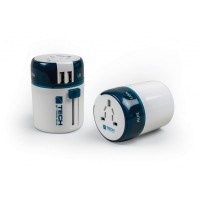 Travel BlueTravel Mains Adapter with Twin USB Port - covers over 150 countries