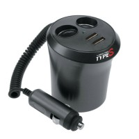 Type S power port 12V/twin USB charcoal grey AC52468