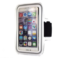 "Pama universal small arm band for iPhone4S / 5 / 5S 4"" in white"