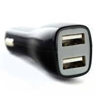 Pama Universal Twin USB In-Car Charger 2A