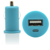 Pama universal USB in car charger blue, 1 Amp