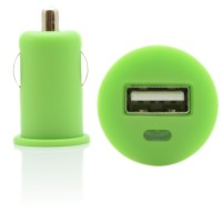 Pama universal USB in car charger green 1 Amp