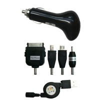 Pama 12/24v universal in car charger with retractable lead 1A